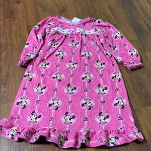 2T Minnie Mouse Girl Nightgown